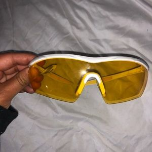 Yellow biker shades